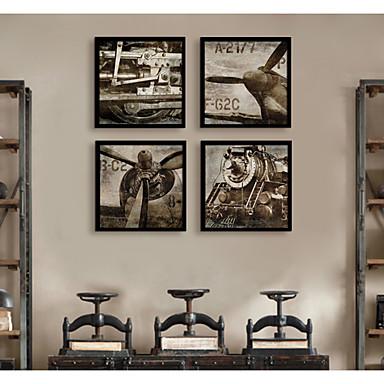 Środki transportu Postarzane Ilustracja Wall Art,PVC (polichlorek winylu) Materiał z ramą For Dekoracja domowa rama Art Living Room