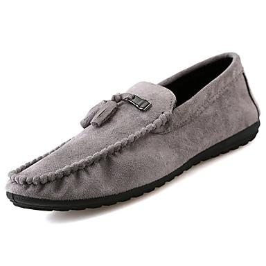 Męskie Buty PU Skórzany Zima Jesień Mokasyny Comfort Mokasyny i pantofle na Casual Black Gray