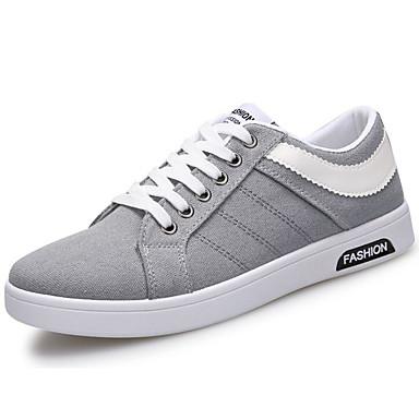 Herren Schuhe Leinwand Frühling Herbst Leuchtende Sohlen Sneakers Für Normal Schwarz Grau Blau