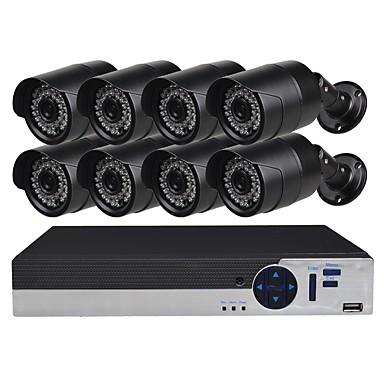 8-kanałowy system kamer bezpieczeństwa z 8ch 1080n ahd dvr 81.3mp odpornymi na warunki atmosferyczne kamerami noktowizyjnymi
