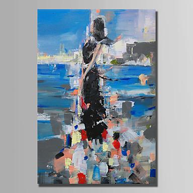 Hang-Ölgemälde Handgemalte - Abstrakt Abstrakt Segeltuch
