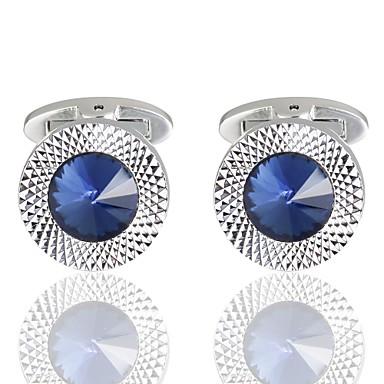 Diamant Niebieski Manžetové knoflíčky Miedź Romantyczna Randka Męskie Biżuteria kostiumowa