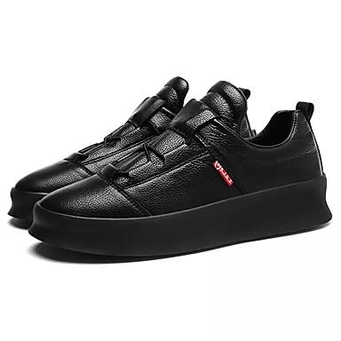 Herren Schuhe PU Winter Komfort Sneakers Für Normal Weiß Schwarz