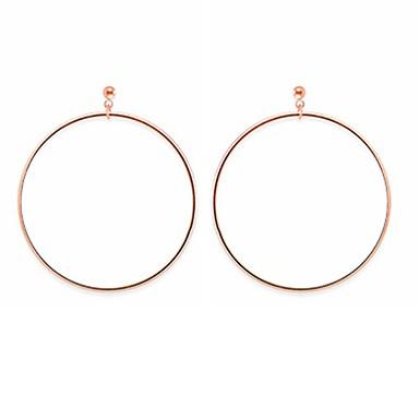 Damskie Kolczyki wiszące Prosty Stop Circle Shape Biżuteria Gold Silver Inny Ulica Biżuteria kostiumowa