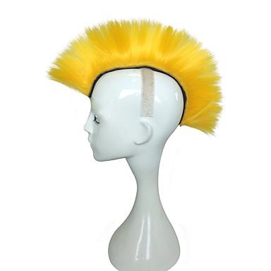 Peruki syntetyczne Kinky Straight Fryzura cieniowana Włosy syntetyczne Odporne na wysoką temperaturę Blond Peruka Damskie Długo cosplay