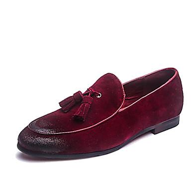 Herren Schuhe Echtes Leder Leder Frühling Sommer Herbst Winter Neuheit formale Schuhe Loafers & Slip-Ons Quaste Für Normal Party &