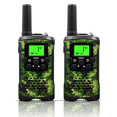 povoljno Walkie talkyji-dvosmjerni radio 22 kanala 3 milje dugi raspon djeca walkie talkie dječaci djevojke igračke pokloni baterija walky talky s baterijskom svjetiljkom za vanjsku avanturu kampiranje (camo)