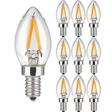 KWB 10 Stück 2W 150lm LED Glühlampen 2 LED-Perlen COB Warmes Weiß 220-240V