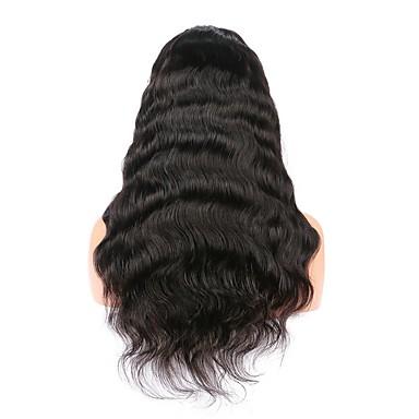 Włosy naturalne Koronkowy przód Peruka Włosy brazylijskie Body wave 130% Gęstość 100% Dziewica Długo Damskie Peruki z włosów ludzkich