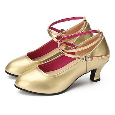 Damskie Buty do tańca nowoczesnego Sztuczna skóra Adidasy Obcas do wyboru Personlaizowane Buty do tańca Gold
