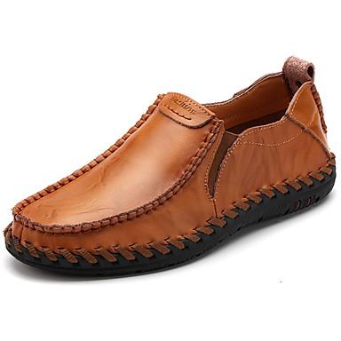 Męskie Buty Nappa Leather Wiosna Jesień Comfort Mokasyny i pantofle Null Null / na Na wolnym powietrzu Black Brown Burgundowy
