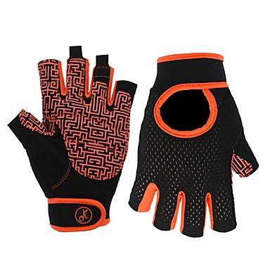 Rękawiczki sportowe Rękawiczki rowerowe Rękawiczki sportowe Zdatny do noszenia Oddychający Skidproof Bez palców Nylon Kolarstwie szosowym