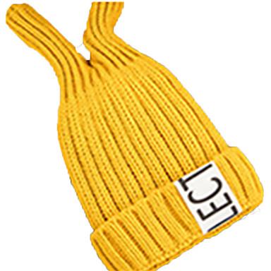 Czapka narciarska Narty Skull Caps Dla dzieci Dla obu płci Ciepły Snowboard Akryl Jendolity kolor Litera i numer Narciarstwo Piesze