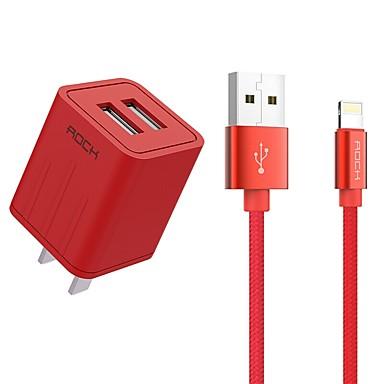 Ładowarka przenośna Ładowarka USB Wtyczka US Szybkie ładowanie / Zestaw do ładowania 2 porty USB 2.1 A na