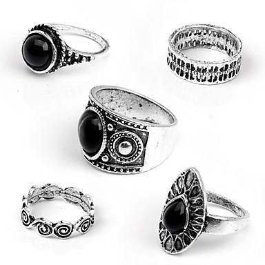Damskie Pierścień oświadczenia Akrylowy Inne Gold Silver Stop Falowane Vintage Modny Codzienny Karnawał Biżuteria kostiumowa