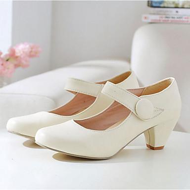 Kadın's Ayakkabı Yapay Deri Bahar / Yaz Kalın Topuk Elbise / Dış mekan için Bej / Sarı / Pembe