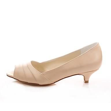 Basique Bout Kitten Escarpin Heel Elastique Chaussures de Femme Champagne 06425733 Printemps mariage Eté ouvert Chaussures Satin Y7qvf7