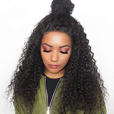 Włosy remy 360 Frontal Peruka Włosy malezyjskie Luźne fale / Pofalowana Peruka Z baby hair 180% Nieprzereagowany Damskie Długo Peruki z włosów ludzkich