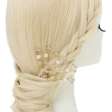Kryształ / Imitacja pereł / Kryształ górski Szpilka do włosów z 1szt Ślub / Specjalne okazje Winieta