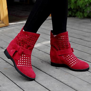 Femme Chaussures Laine synthétique Automne Automne Automne / Hiver Bottes à la Mode / Botillons Bottes Talon Plat Bout rond Bottine / Demi Botte / Bottes   Online Store  3be5cf