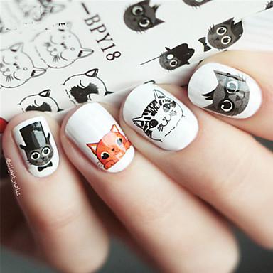 1 Pcs Adesivi Manicure Manicure Pedicure Animal - Di Tendenza Quotidiano #06441608