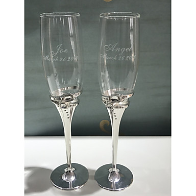 abordables Flûtes à Champagne-Verre alliage de zinc Flûtes grillage Boîte à cadeau Mariage Toutes les Saisons