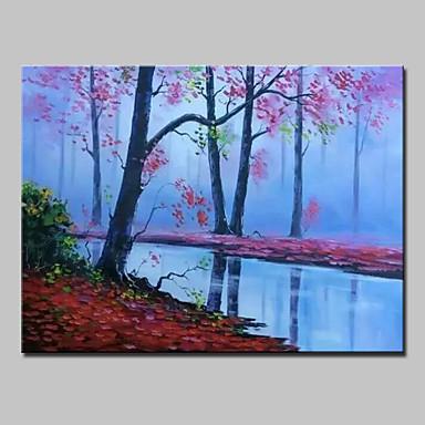 Hang-Malowane obraz olejny Ręcznie malowane - Krajobraz Nowoczesny Zwinięte płótna / Zwijane płótno