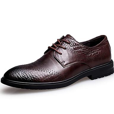 Homens Sapatos formais Pele Napa Outono / Inverno Oxfords Preto / Café / Festas & Noite