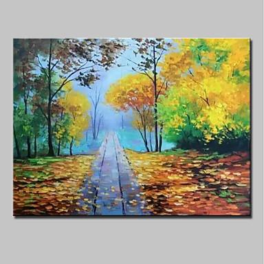Ręcznie malowane Krajobraz Poziomy, Nowoczesny Brezentowy Hang-Malowane obraz olejny Dekoracja domowa Jeden panel
