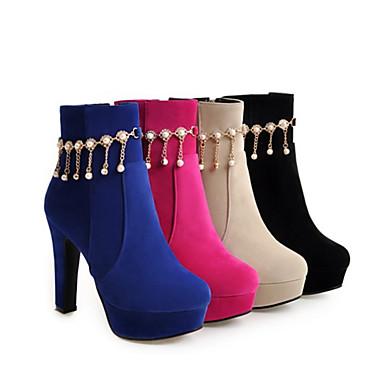 Chaussures haut Mode 06418609 Bout Talon Bottine la Nouveauté Automne Confort Femme pointu Polyuréthane Bottes Printemps Bottes à Demi pTn7wTdqzx