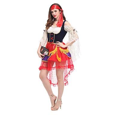 Sweet Lolita Księżniczka Lolita Damskie Stroje Cosplay Czerwony Krótki kimonowy Krótki rękaw Mid Udo Midi