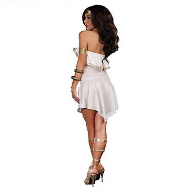 Punk Lolita Starożytna Grecja Damskie Sukienki Cosplay White Krótki kimonowy Bez rękawów Krótka / Mini Mini