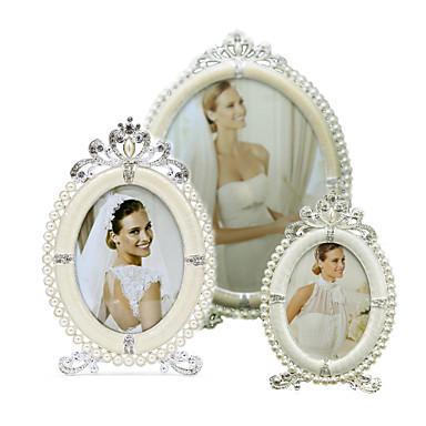 Antyczny / Klasyczny / Fason europejski Perłowy / Kryształ górski / Stop Srebrne / Galwanizowany Ramki do zdjęć Dekoracje ścienne, 1szt