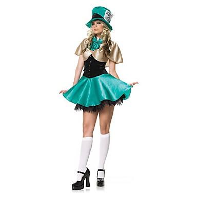 Sweet Lolita Księżniczka Lolita Damskie Stroje Cosplay Niebieski Krótki kimonowy Krótki rękaw Krótka / Mini Mini