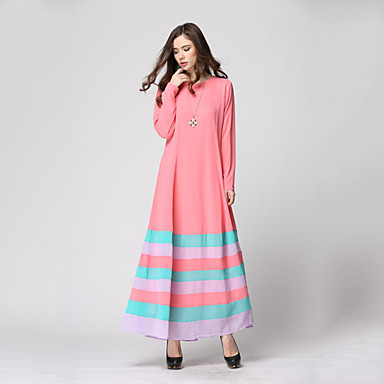 1306030277da Εθνικό   Θρησκευτικό Αραβικό φόρεμα Αμπάγια Γυναικεία Φορέματα Ethnic Style  Μακρύ Μήκος Γιορτές   Διακοπές Πολυεστέρας