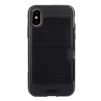 Case Kompatibilitás Apple iPhone X iPhone 8 iPhone 8 Plus iPhone 5 tok Kártyatartó Fekete tok Tömör szín Puha TPU mert iPhone X iPhone 8