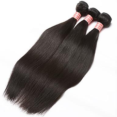 3 zestawy Włosy brazylijskie Włosy naturalne Fale w naturalnym kolorze Ludzkie włosy wyplata Ludzkich włosów rozszerzeniach