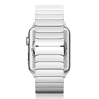 حزام إلى Apple Watch Series 4/3/2/1 Apple فراشة مشبك معدني ل خزفي شريط المعصم