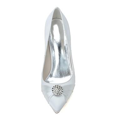 Bleu Mariage Basique Chaussures Satin Aiguille Escarpin de Strass pointu Bout Chaussures Eté 06439898 Blanc Talon mariage Printemps Femme FnqwSCaZx