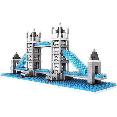 Klocki Bloki diamentowe LOZ 570pcs Klasyczny Znane budynki Architektura most Londyński DIY Non Toxic Architektura Zabawki Prezent