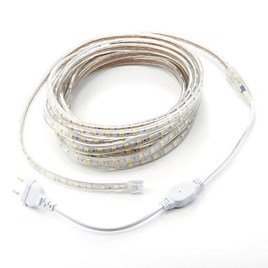 abordables Bandes Lumineuses LED-7m 1pc 220v 5050 led bande de corde flexible bande lumière noël en plein air étanche jardin éclairage eu plug