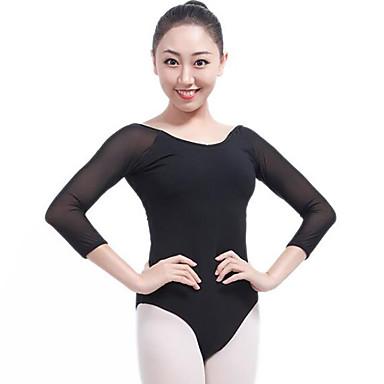 Balet Body Damskie Wydajność Elastan Materiały łączone Rękaw 3/4 Naturalny Trykot opinający ciało / Śpiochy dla dorosłych