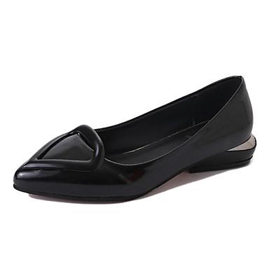 Women's Shoes PU Summer Comfort Flats Walking Shoes Low Heel Open Toe for Casual Black Red