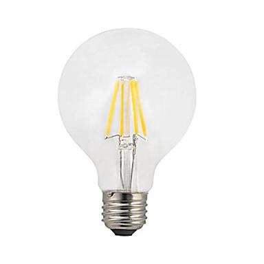 1szt 4W 360 lm E27 Żarówka dekoracyjna LED G80 4 Diody lED COB LED Light Ciepła biel AC 220-240V