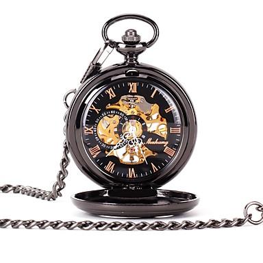 7f6827baed2 Casal Relógio Esqueleto Relógio de Bolso Quartzo Preta Gravação Oca Relógio  Casual Analógico senhoras Luxo Casual Caveira - Preto