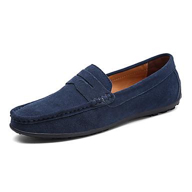 Men's Comfort PU(Polyurethane) Spring / Fall Comfort Men's Loafers & Slip-Ons Dark Brown / Royal Blue / Dark Green 5e4f43