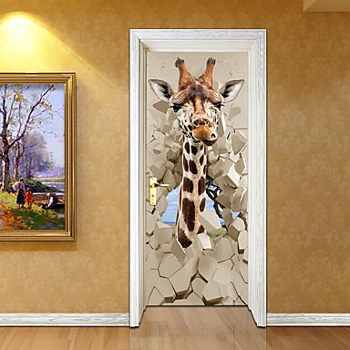Krajobraz Zwierzęta Naklejki Naklejki ścienne 3D Dekoracyjne naklejki ścienne, Winyl Dekoracja domowa Naklejka Ściana