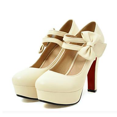 Mujer Zapatos PU Primavera verano Innovador Sandalias Tacón Cuña Dedo redondo Morado / Rojo / Rosa / Fiesta y Noche Dernières Collections 9D4WYNv2f