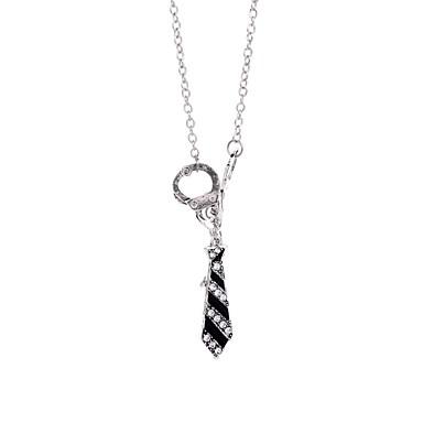 levne Dámské šperky-Pánské Dámské Náhrdelníky s přívěšky Želízka Pouta Hip-hop Kov Slitina Stříbrná Náhrdelníky Šperky 1 Pro Formální Plesová maškaráda