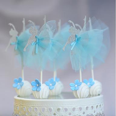 Figurki na tort Urodziny New Baby Impreza/Wieczór Koronka Karton Impreza Urodziny z Koronka 1 OPP